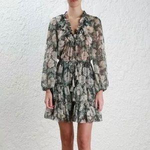 Zimmermann bowerbird draw frill short dress